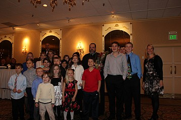 Parish youth at the banquet