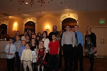 Parish youth at the banquet